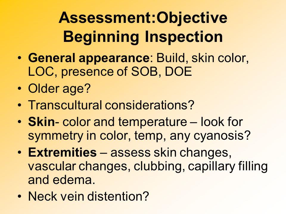 Assessment:Objective Beginning Inspection