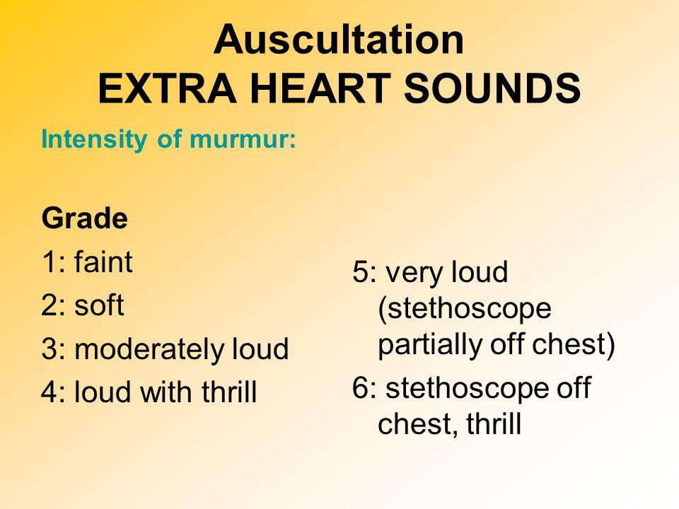 Auscultation EXTRA HEART SOUNDS