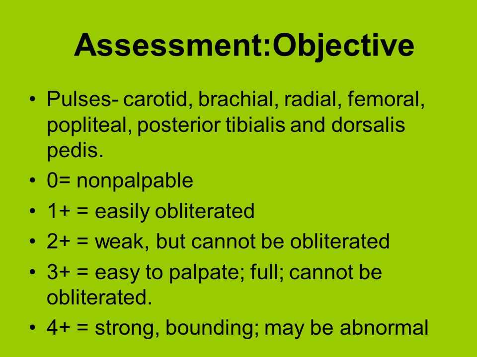 Assessment:Objective