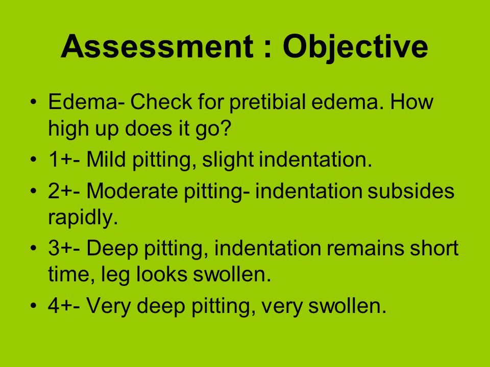 Assessment : Objective
