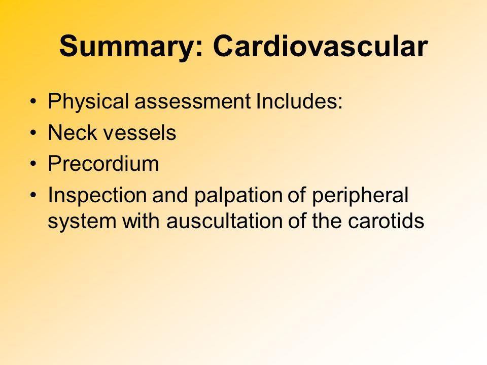 Summary: Cardiovascular