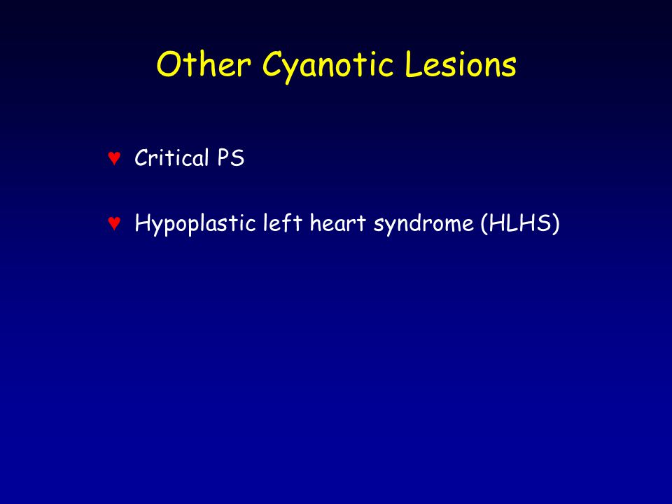 Other Cyanotic Lesions