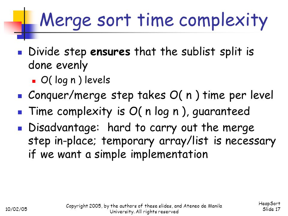 Merge sort time complexity