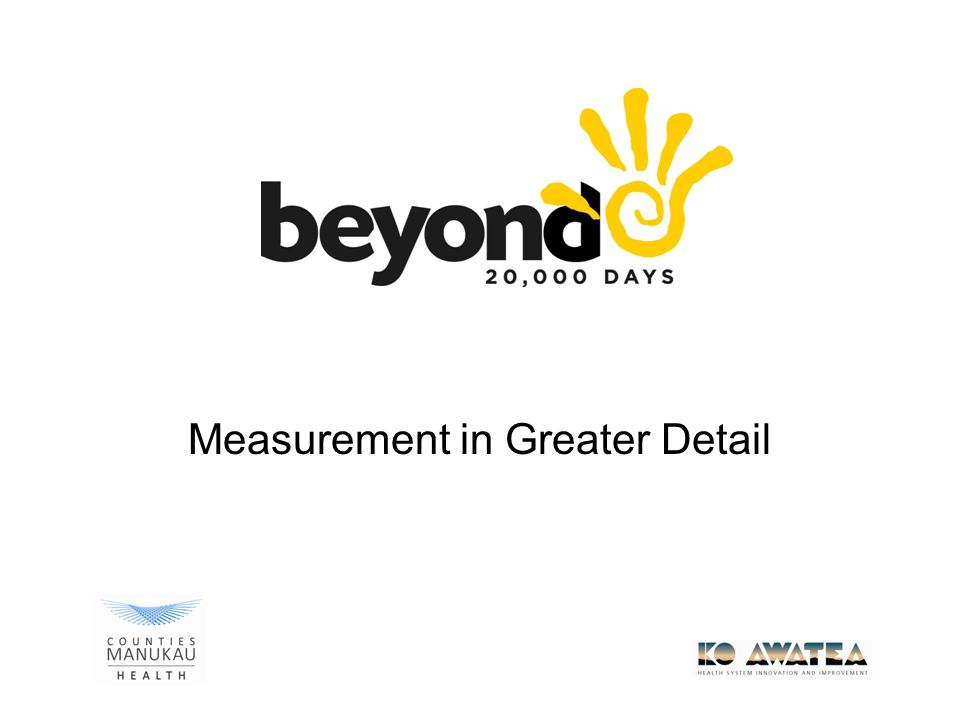 Measurement in Greater Detail
