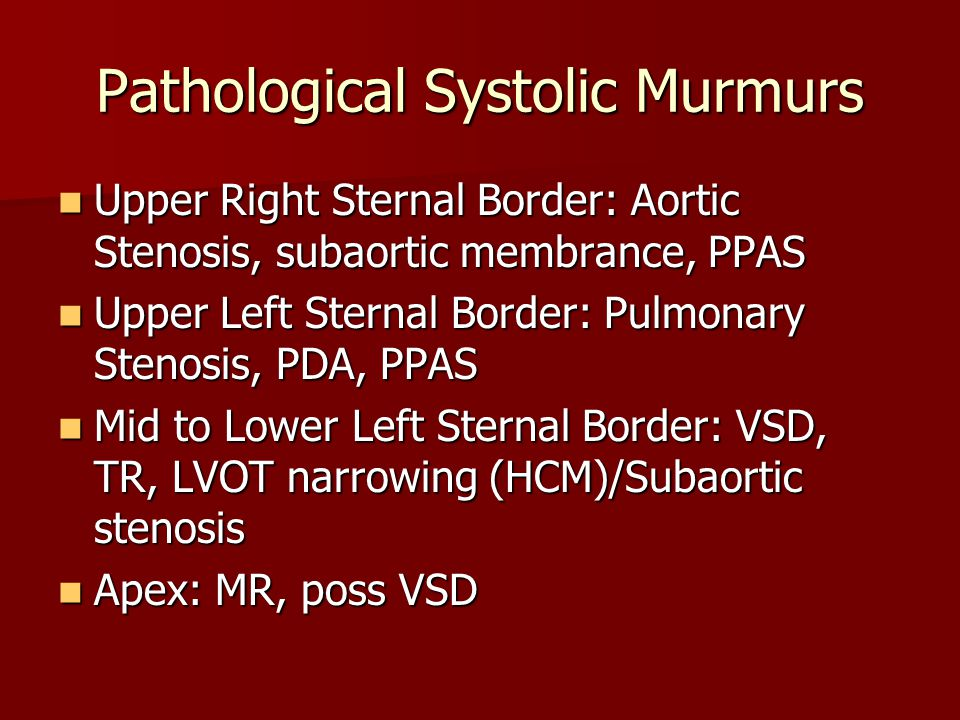 Pathological Systolic Murmurs