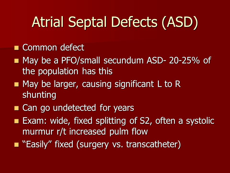 Atrial Septal Defects (ASD)