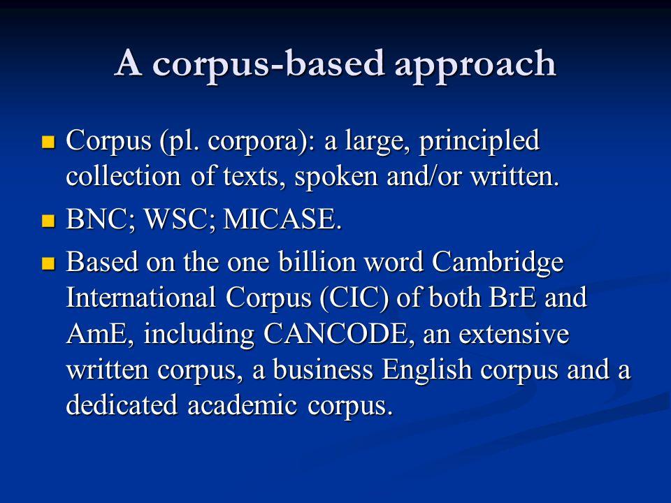 A corpus-based approach