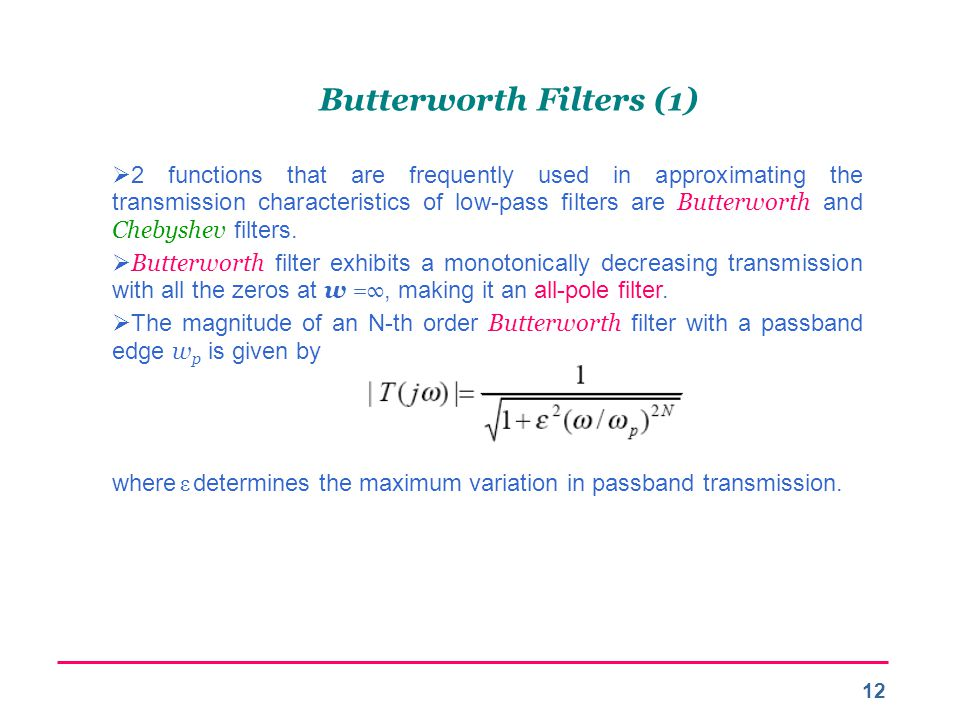 Butterworth Filters (1)