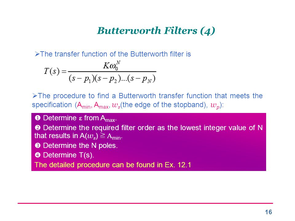 Butterworth Filters (4)