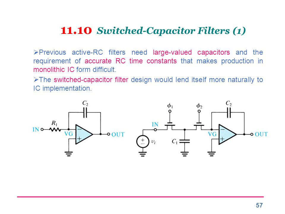 11.10 Switched-Capacitor Filters (1)