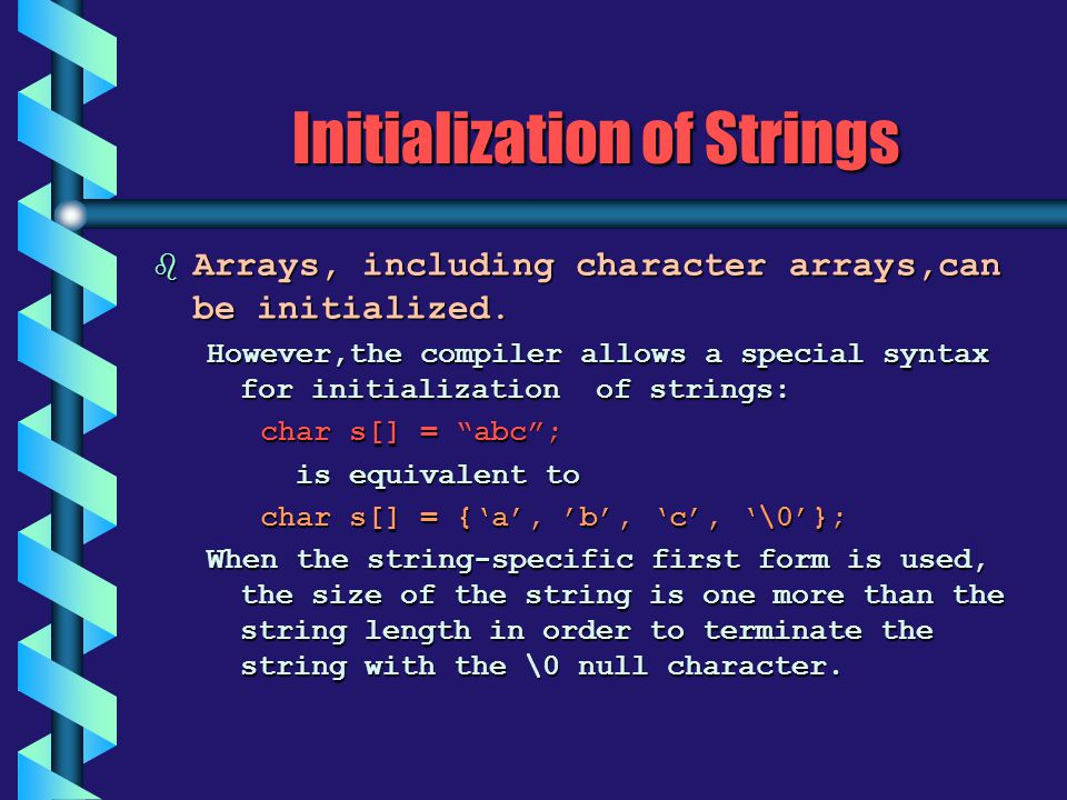 Initialization of Strings
