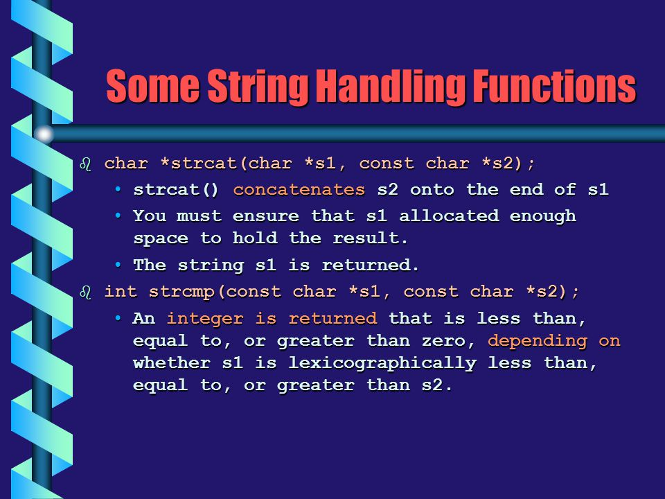 Some String Handling Functions