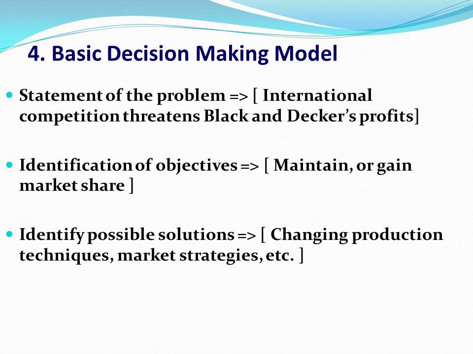4. Basic Decision Making Model