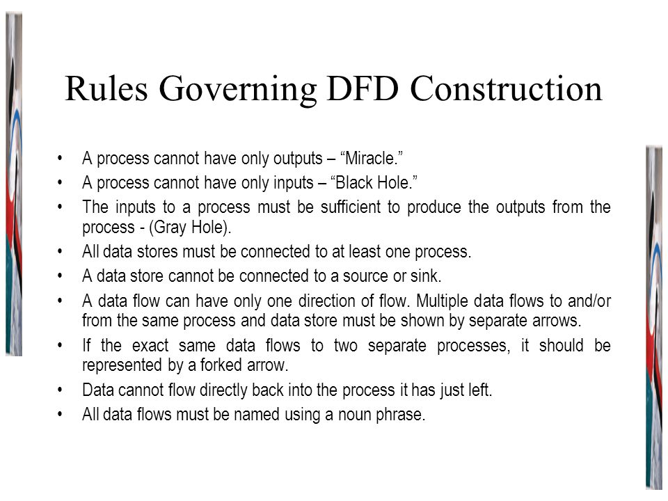 Rules Governing DFD Construction