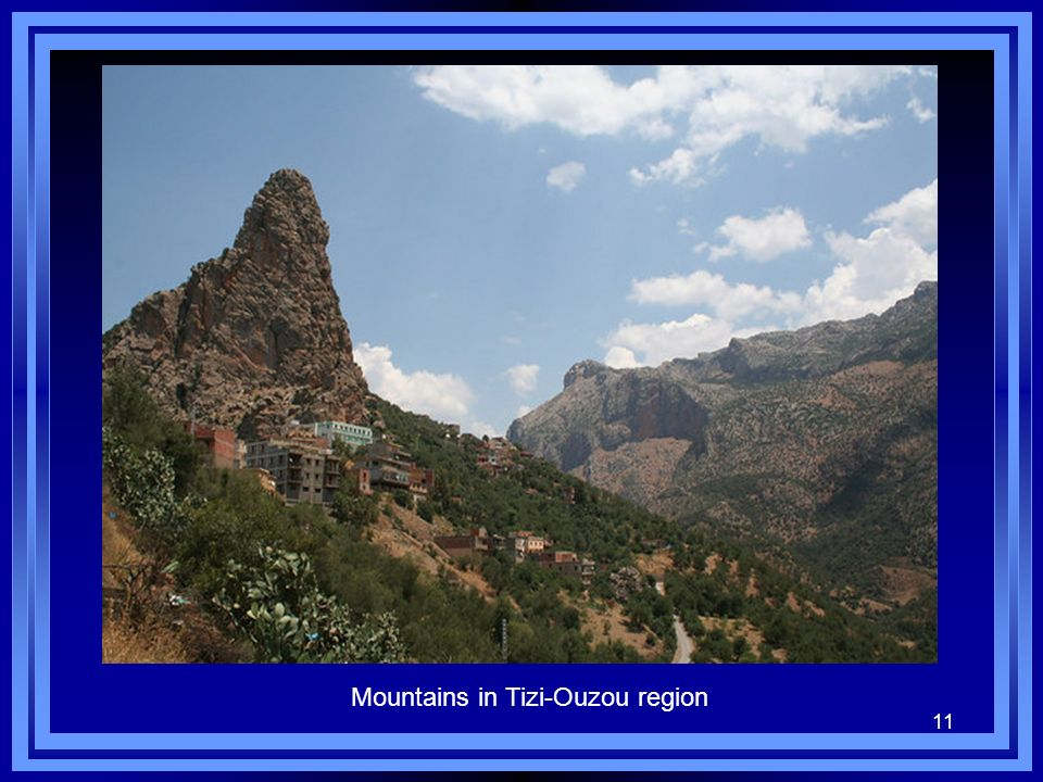 Mountains in Tizi-Ouzou region