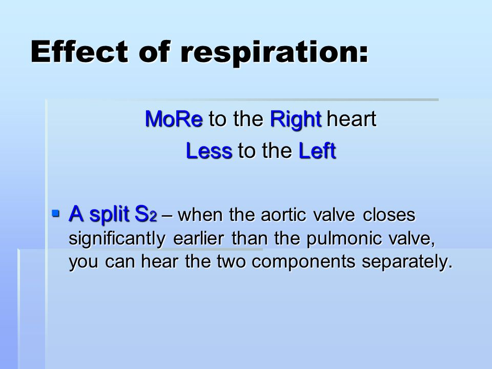 Effect of respiration: