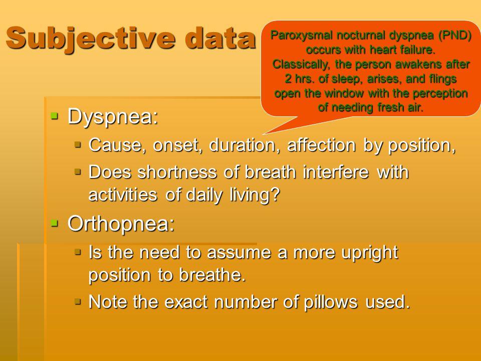Paroxysmal nocturnal dyspnea (PND) occurs with heart failure.