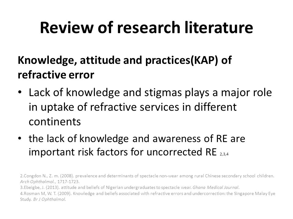 Review of research literature