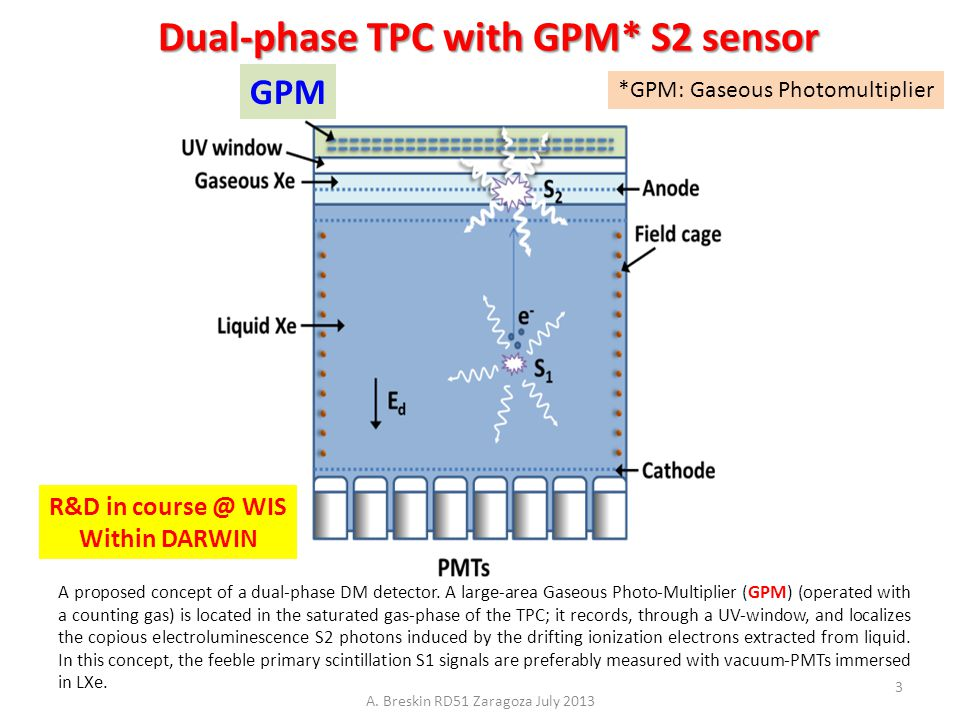 Dual-phase TPC with GPM* S2 sensor