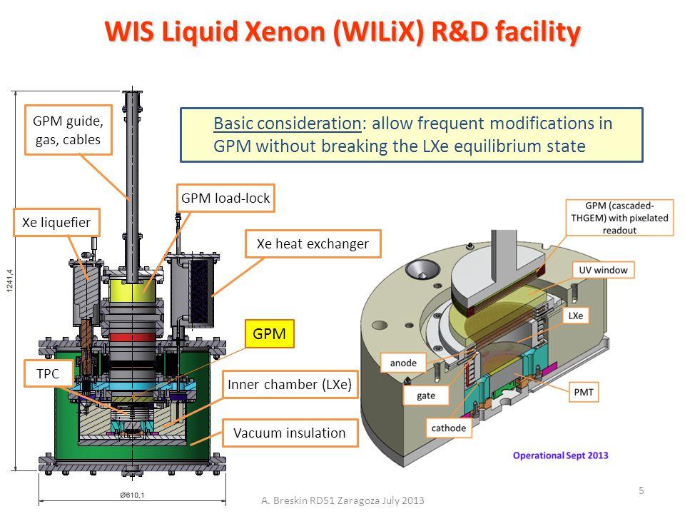WIS Liquid Xenon (WILiX) R&D facility