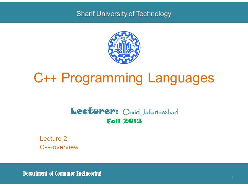 C++ Programming Languages