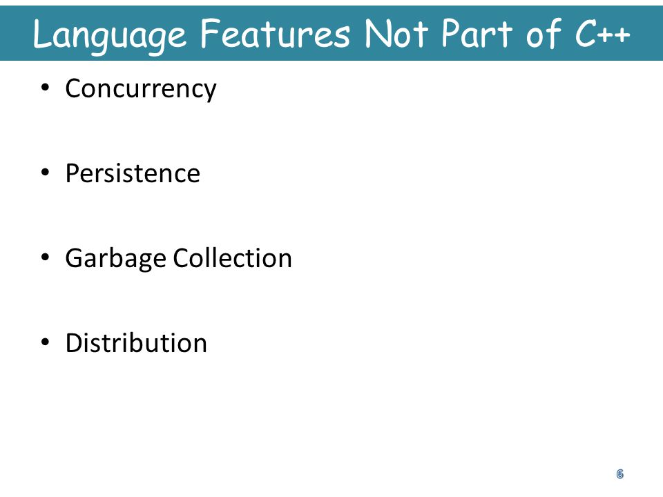 Language Features Not Part of C++