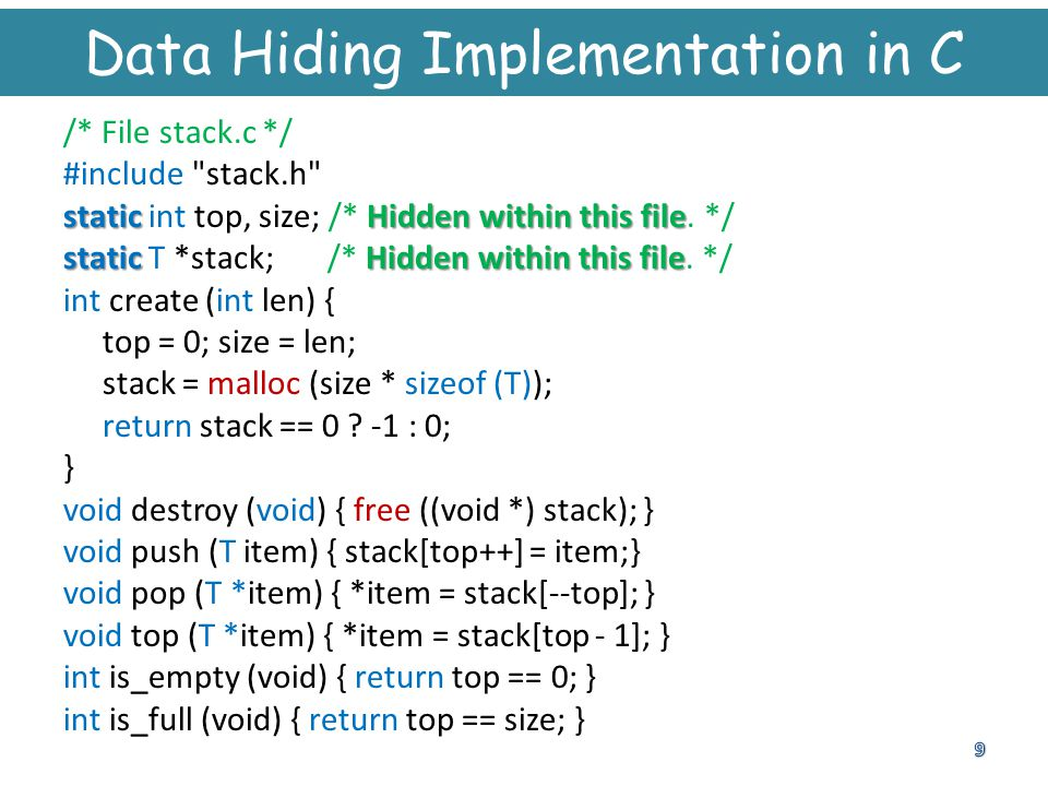 Data Hiding Implementation in C