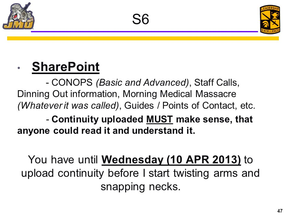 S6 SharePoint.