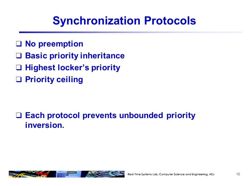Synchronization Protocols