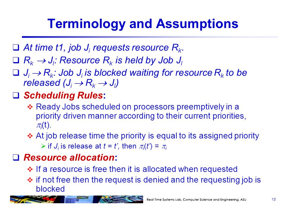 Terminology and Assumptions