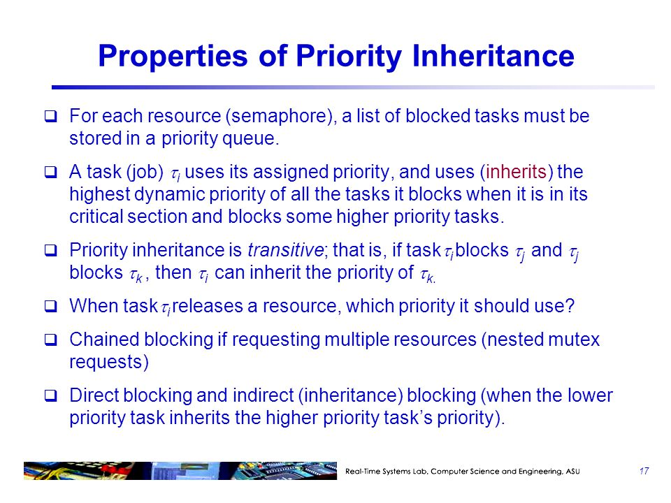 Properties of Priority Inheritance