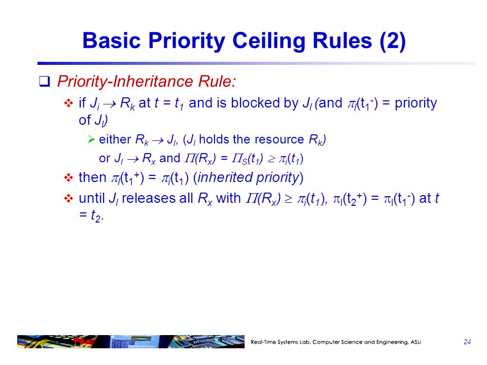 Basic Priority Ceiling Rules (2)