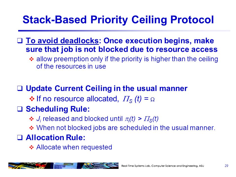 Stack-Based Priority Ceiling Protocol