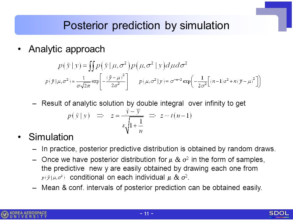 Posterior prediction by simulation