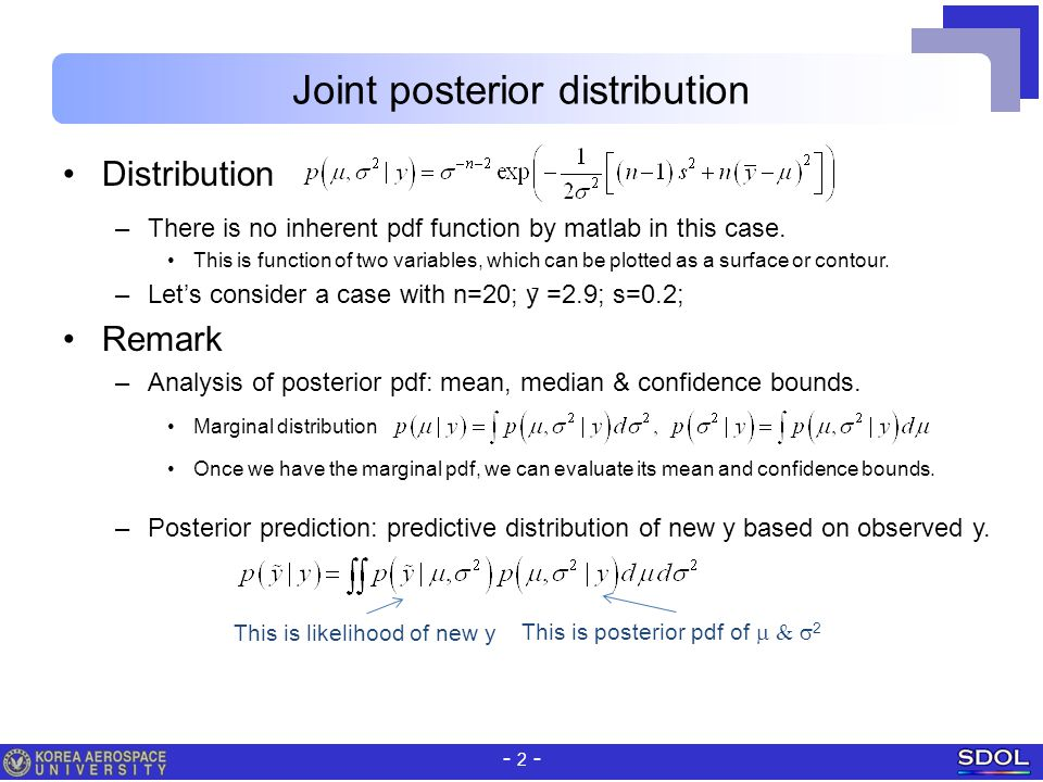 Joint posterior distribution