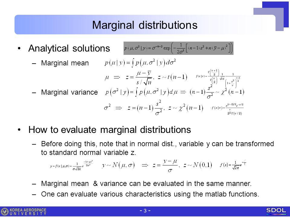 Marginal distributions