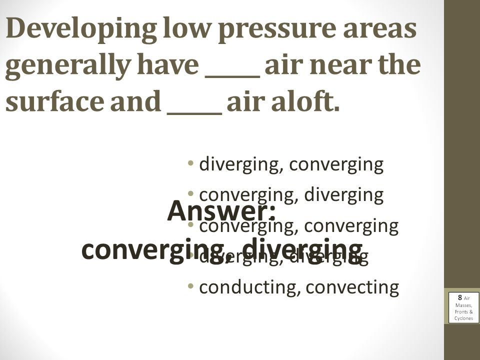 Answer: converging, diverging