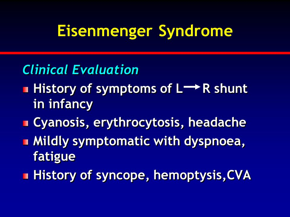 Eisenmenger Syndrome Clinical Evaluation
