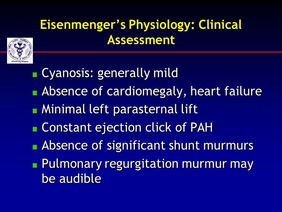 Eisenmenger's Physiology: Clinical Assessment