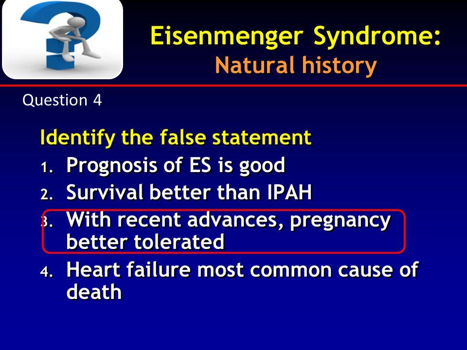 Eisenmenger Syndrome: Natural history
