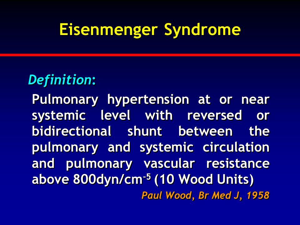 Eisenmenger Syndrome Definition: