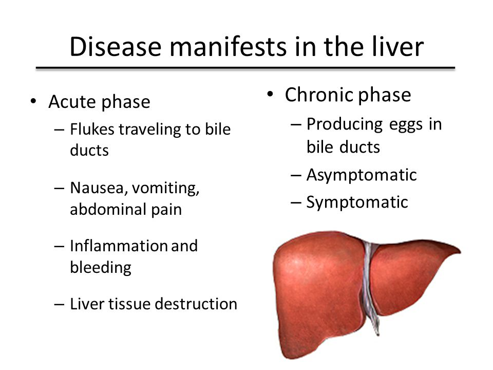 Disease manifests in the liver