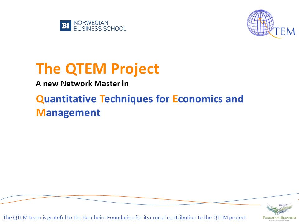 The QTEM Project A new Network Master in