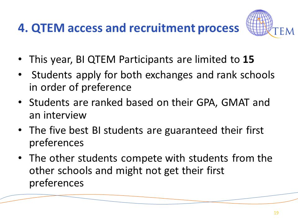 4. QTEM access and recruitment process