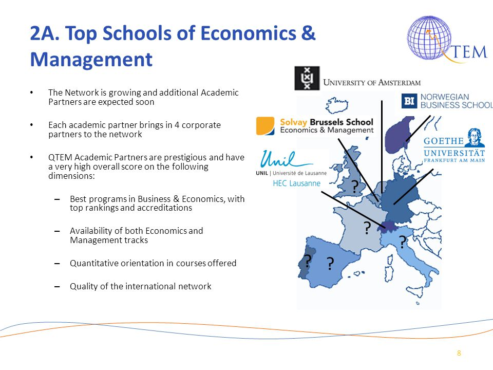 2A. Top Schools of Economics & Management