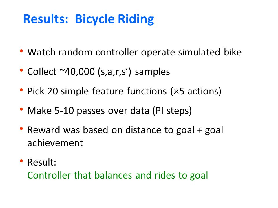 Results: Bicycle Riding