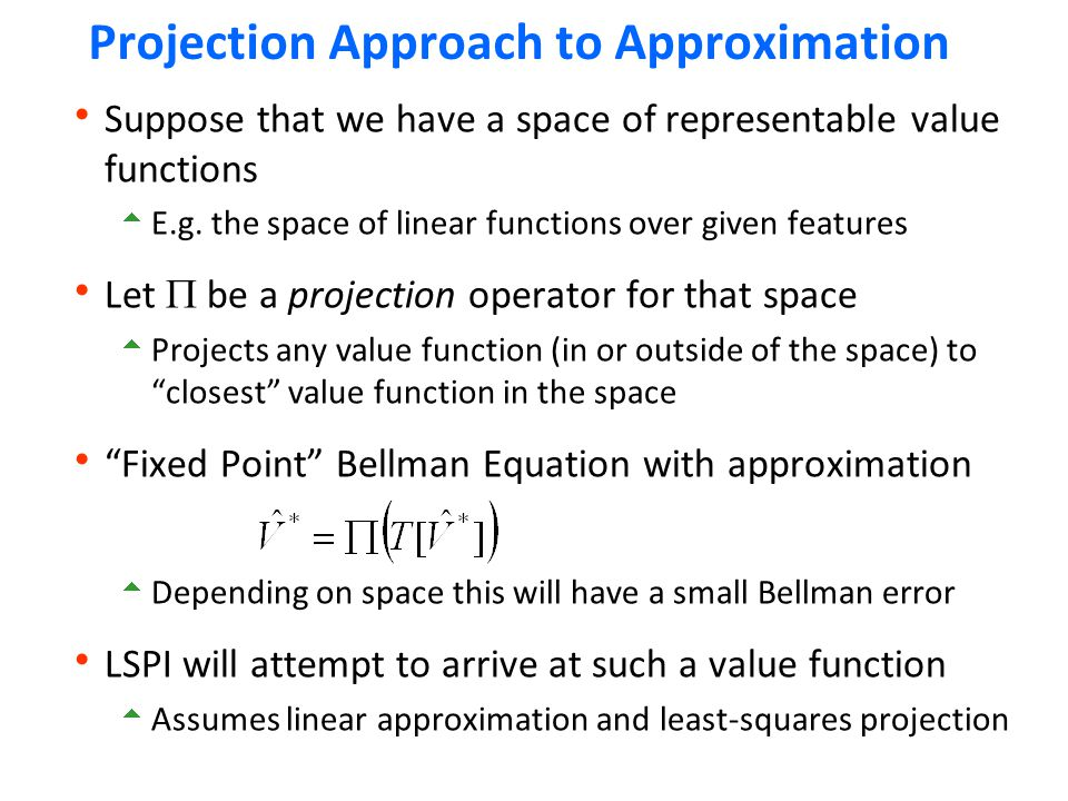 Projection Approach to Approximation
