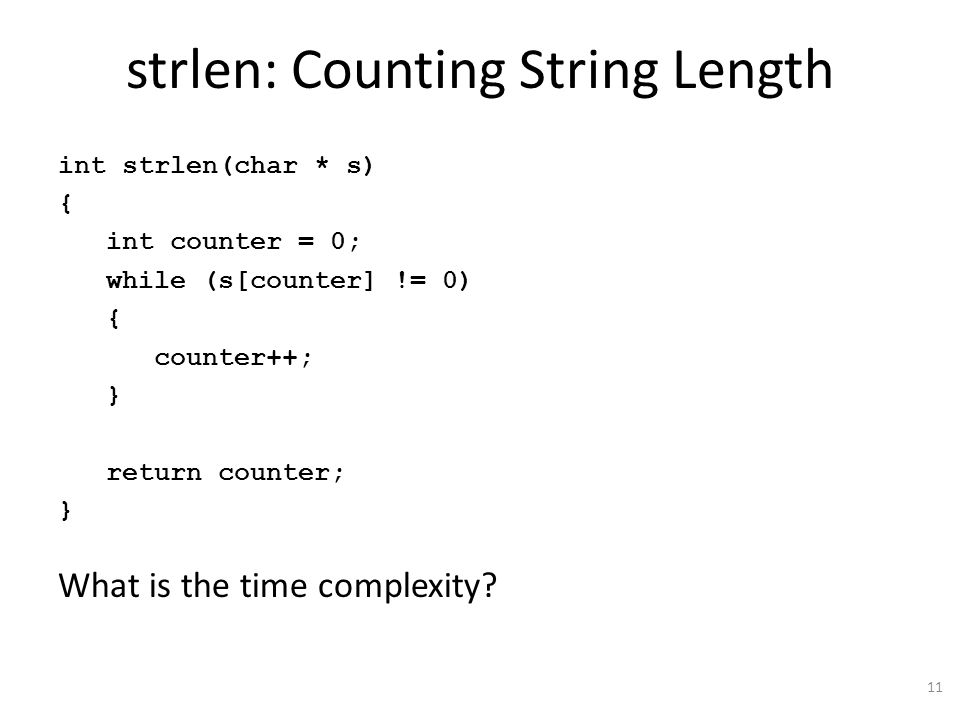 strlen: Counting String Length