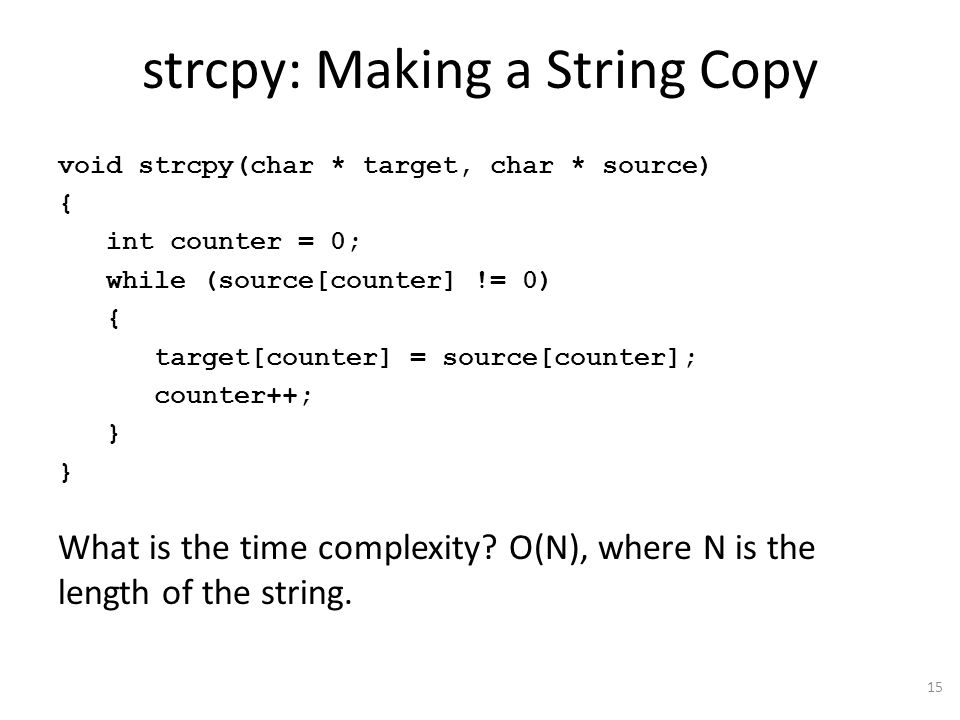 strcpy: Making a String Copy