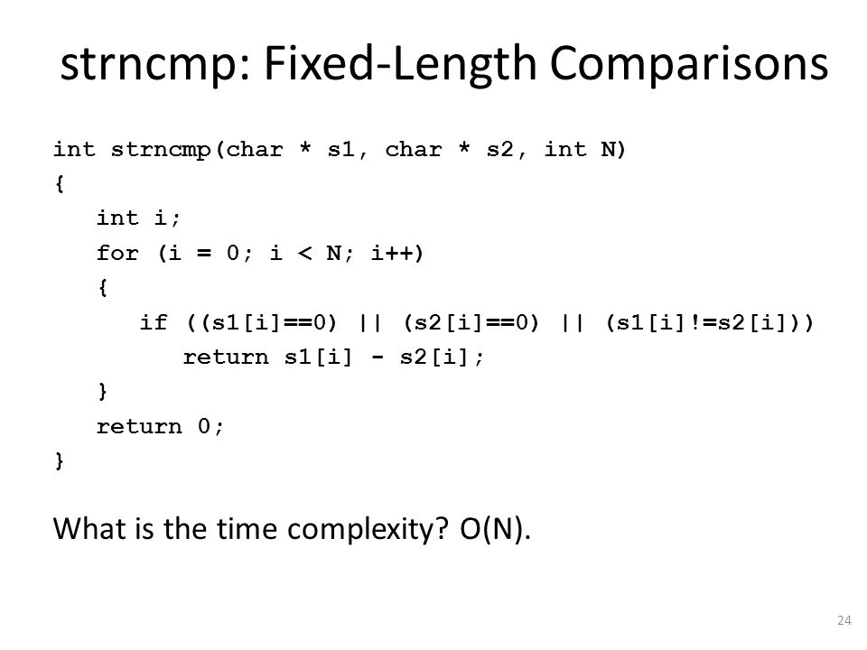 strncmp: Fixed-Length Comparisons